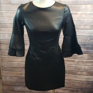 New ZARA BASIC COLLECTION Faux leather dress